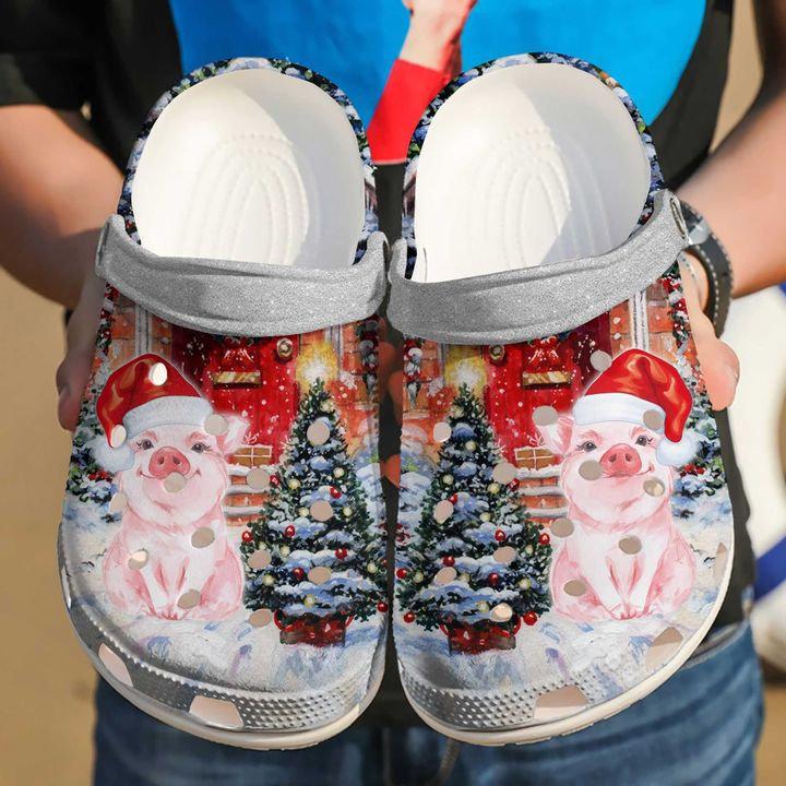 Pig Christmas Crocs Clog Shoes