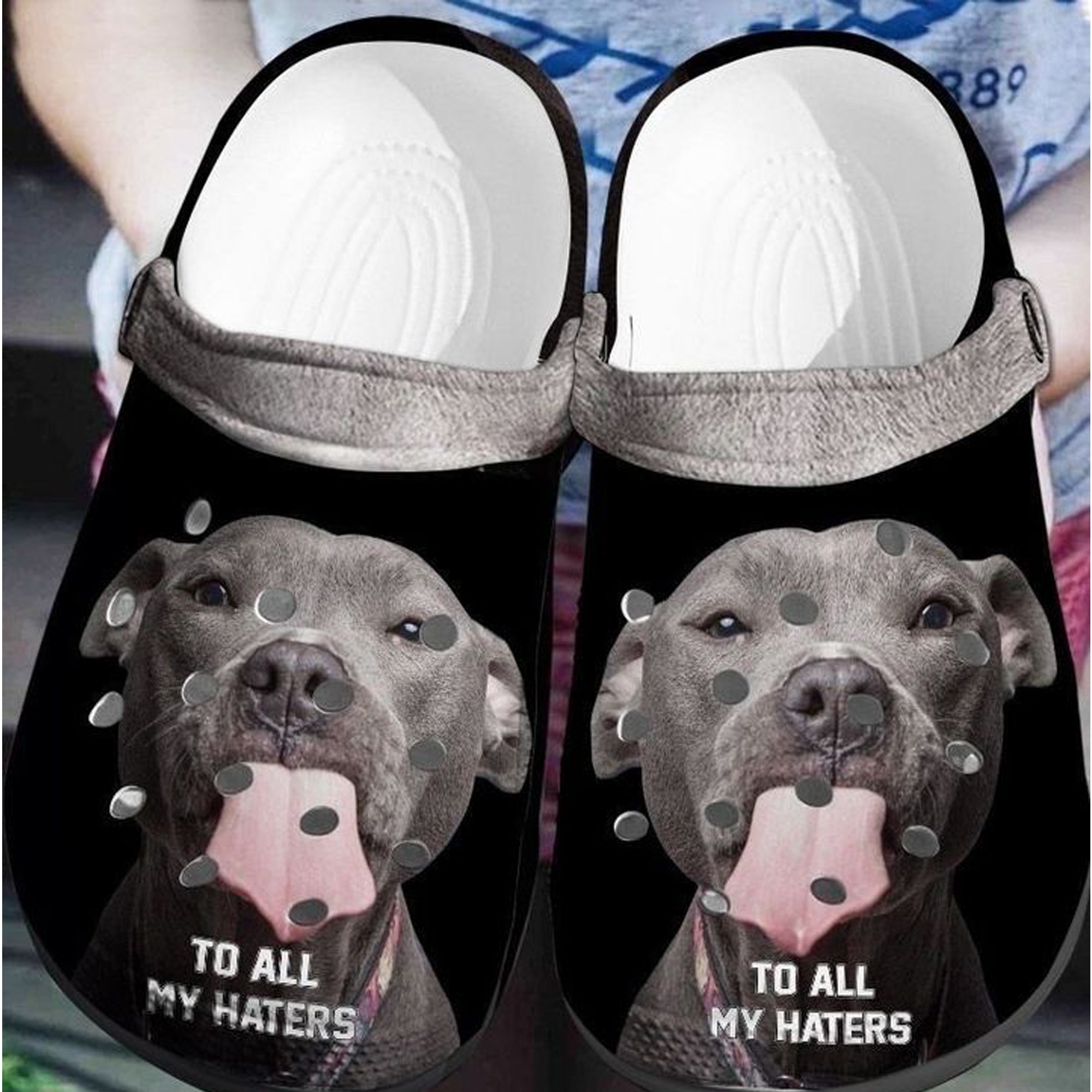 Pitbull Crocs Clog Shoes