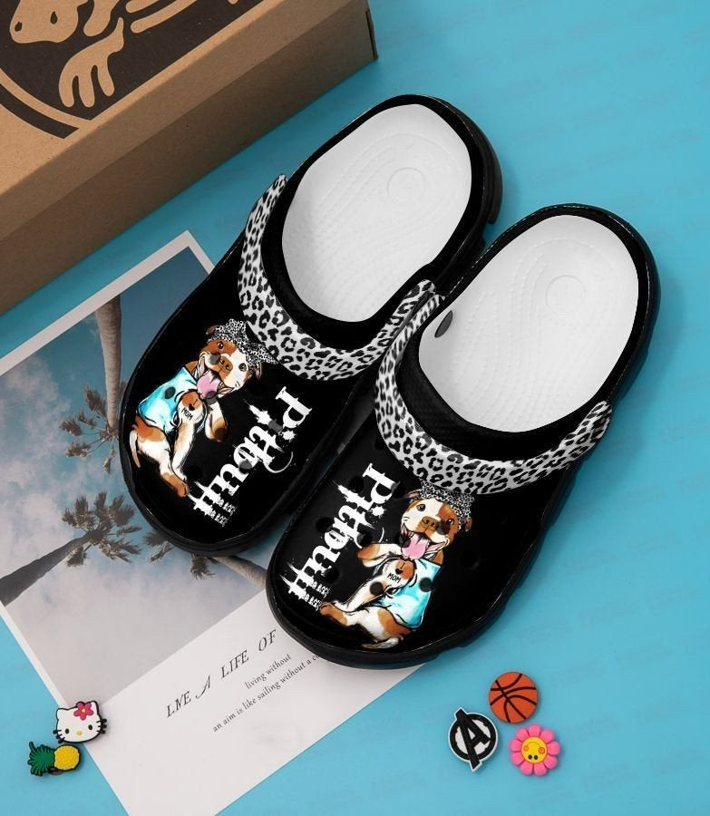 Pitbull Dog Crocs Clog Shoes
