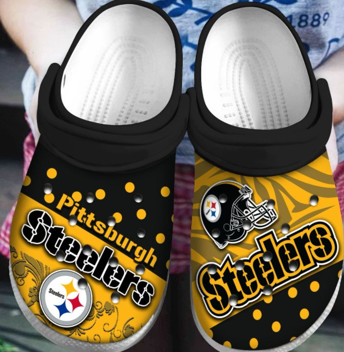 Pittsburgh Steelers Crocs Clog Shoes