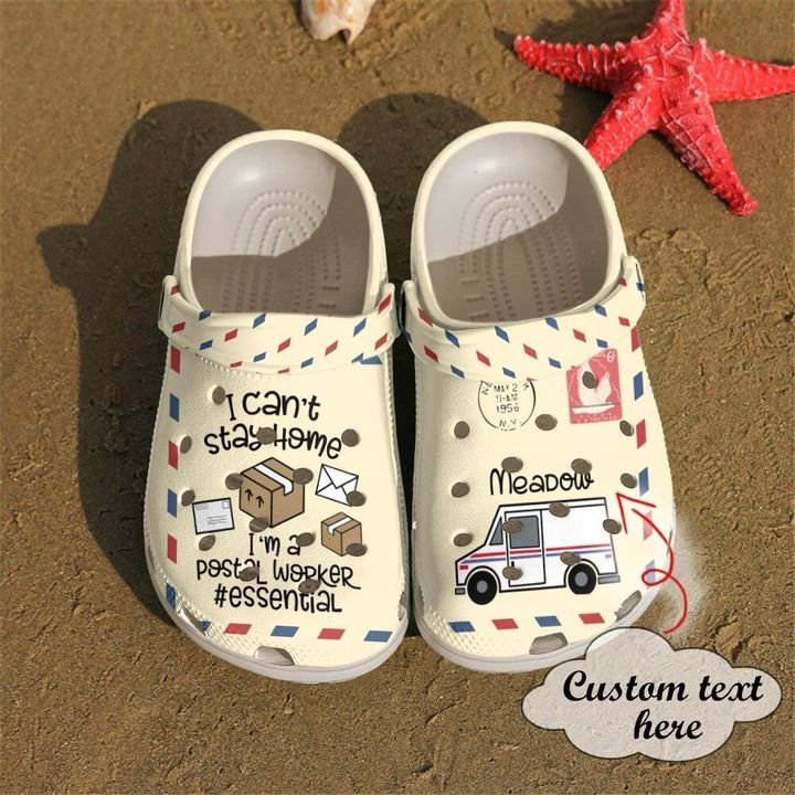Postal Worker Personalized Cant Stay Home Crocs Clog Shoes