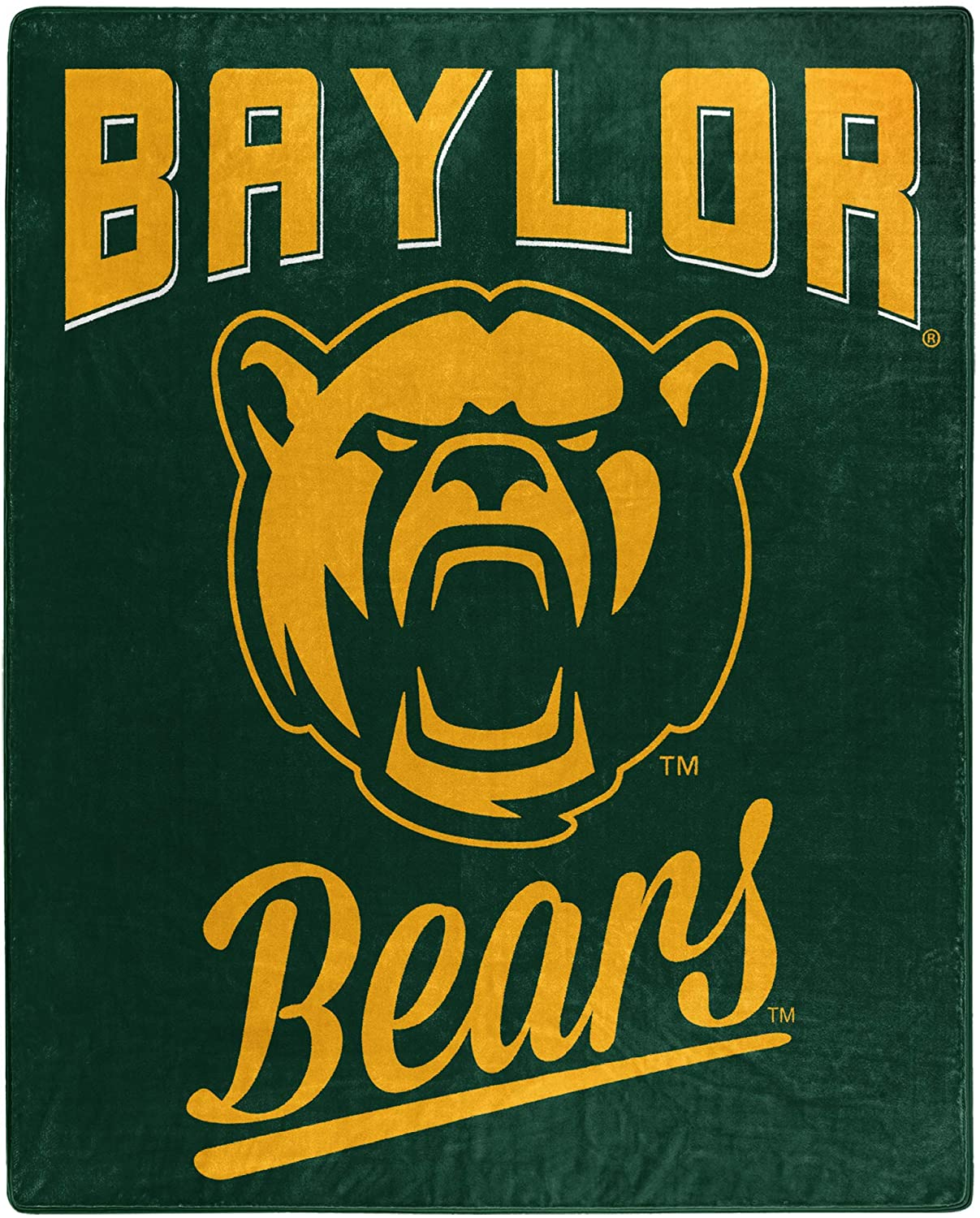 Printed Throw Baylor Bears Fleece Blanket