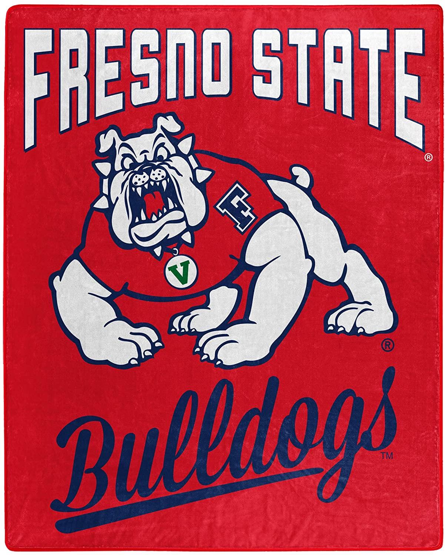Printed Throw Fresno State Bulldogs Fleece Blanket