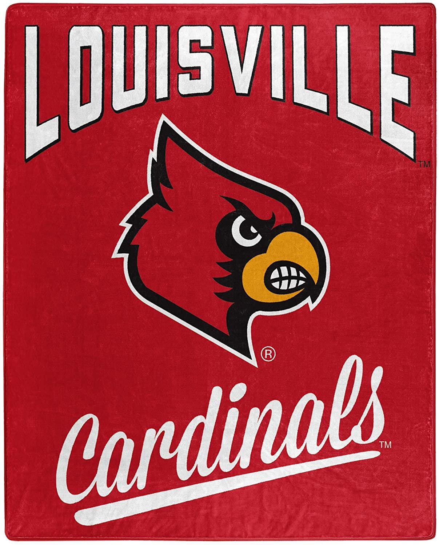 Printed Throw Louisville Cardinals Fleece Blanket