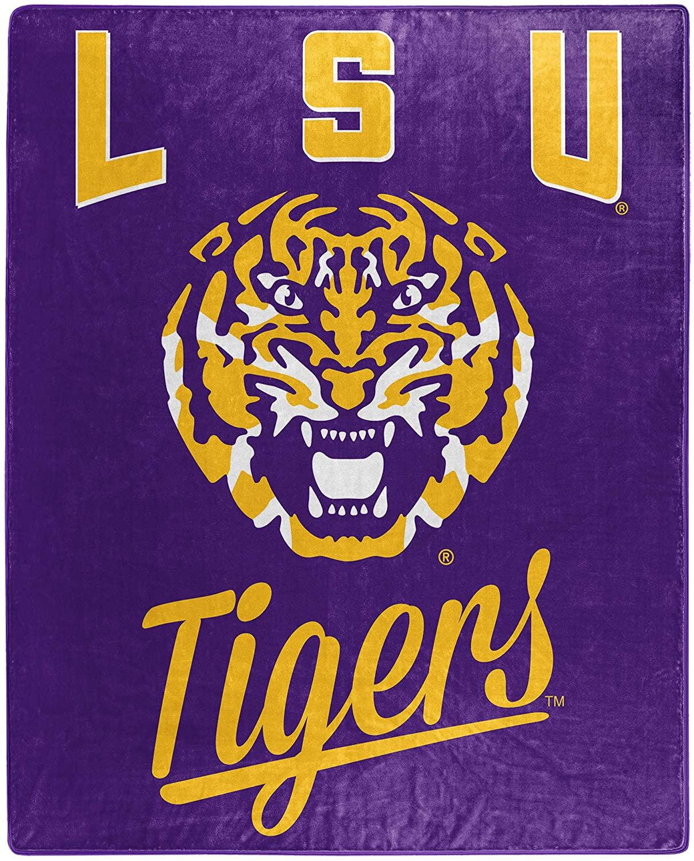 Printed Throw Lsu Tigers Fleece Blanket