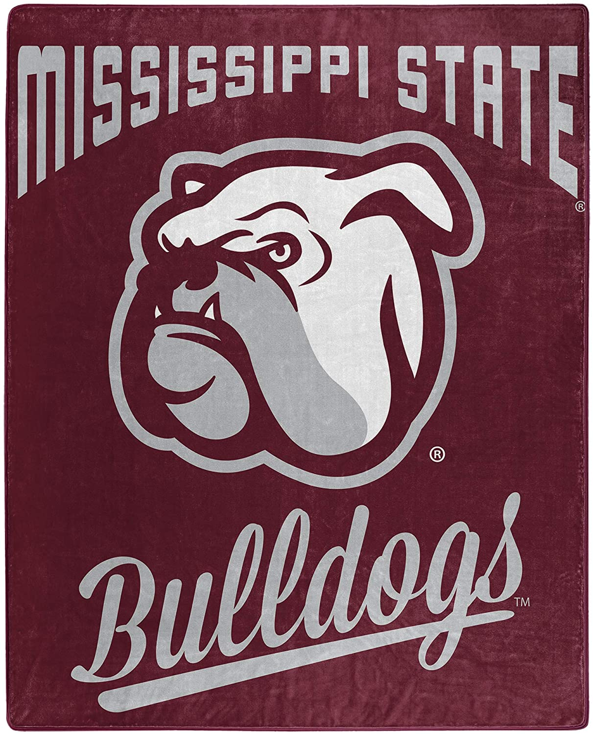 Printed Throw Mississippi State Bulldogs Fleece Blanket
