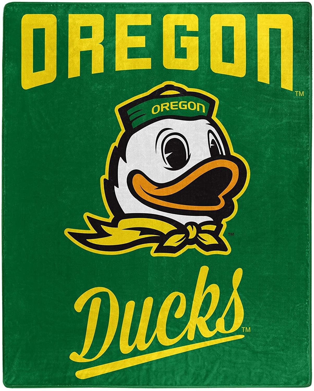 Printed Throw Oregon Ducks Fleece Blanket