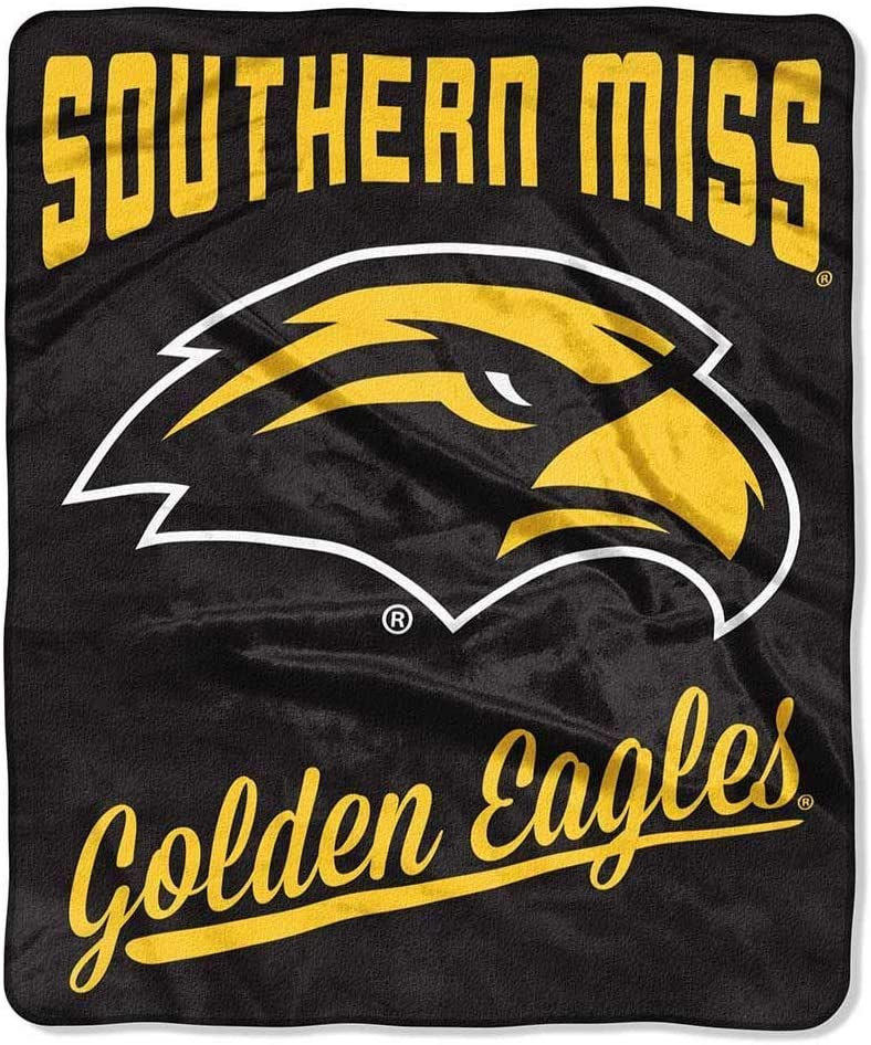 Printed Throw Southern Miss Golden Eagles Fleece Blanket