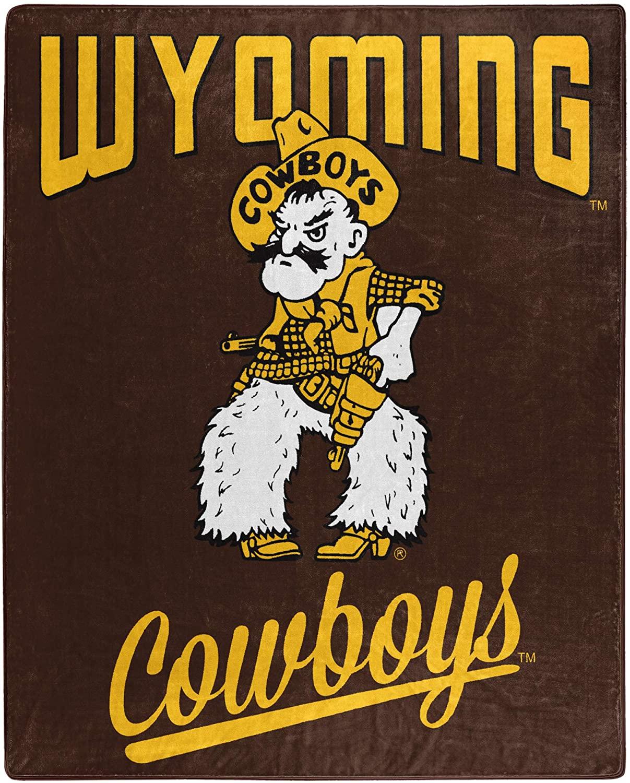 Printed Throw Wyoming Cowboys Fleece Blanket