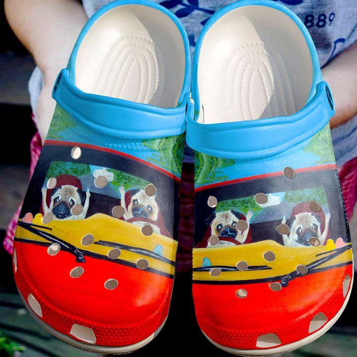 Pug Road Rage Crocs Clog Shoes