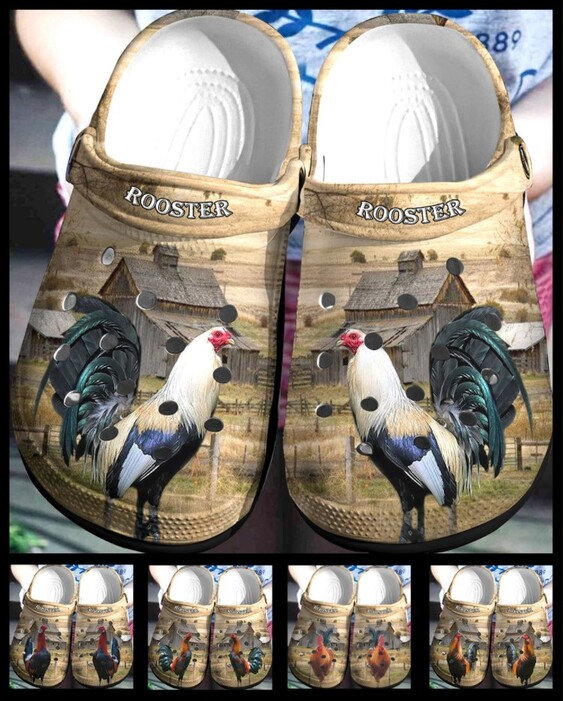 Rooster Crocs Clog Shoes