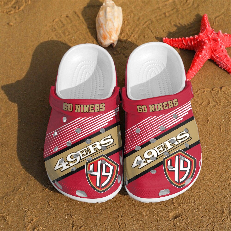 San Francisco 49ers Go Niners Custom For Nfl Fans Crocs Clog Shoes