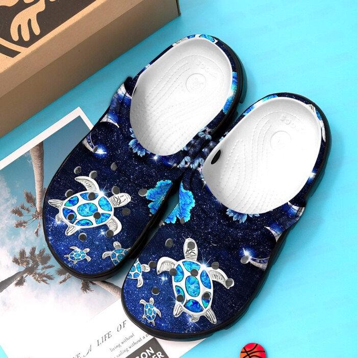 Sea Turtle Green Crocs Clog Shoes