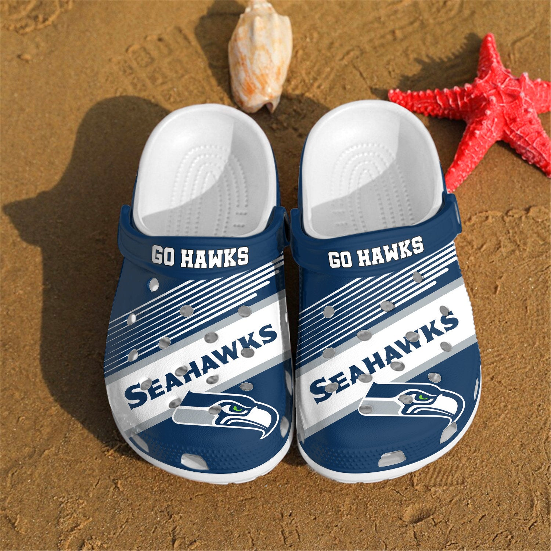 Seattle Seahawks Go Hawks Custom For Nfl Fans Crocs Clog Shoes