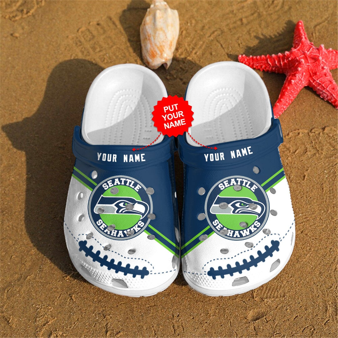 Seattle Seahawks Personalized Custom For Nfl Fans Crocs Clog Shoes