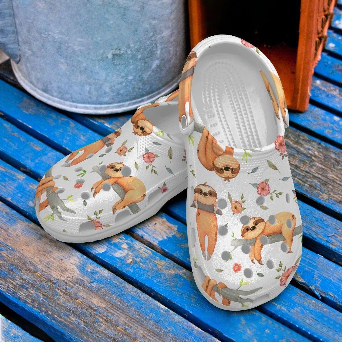 Sloth Cool Crocs Clog Shoes