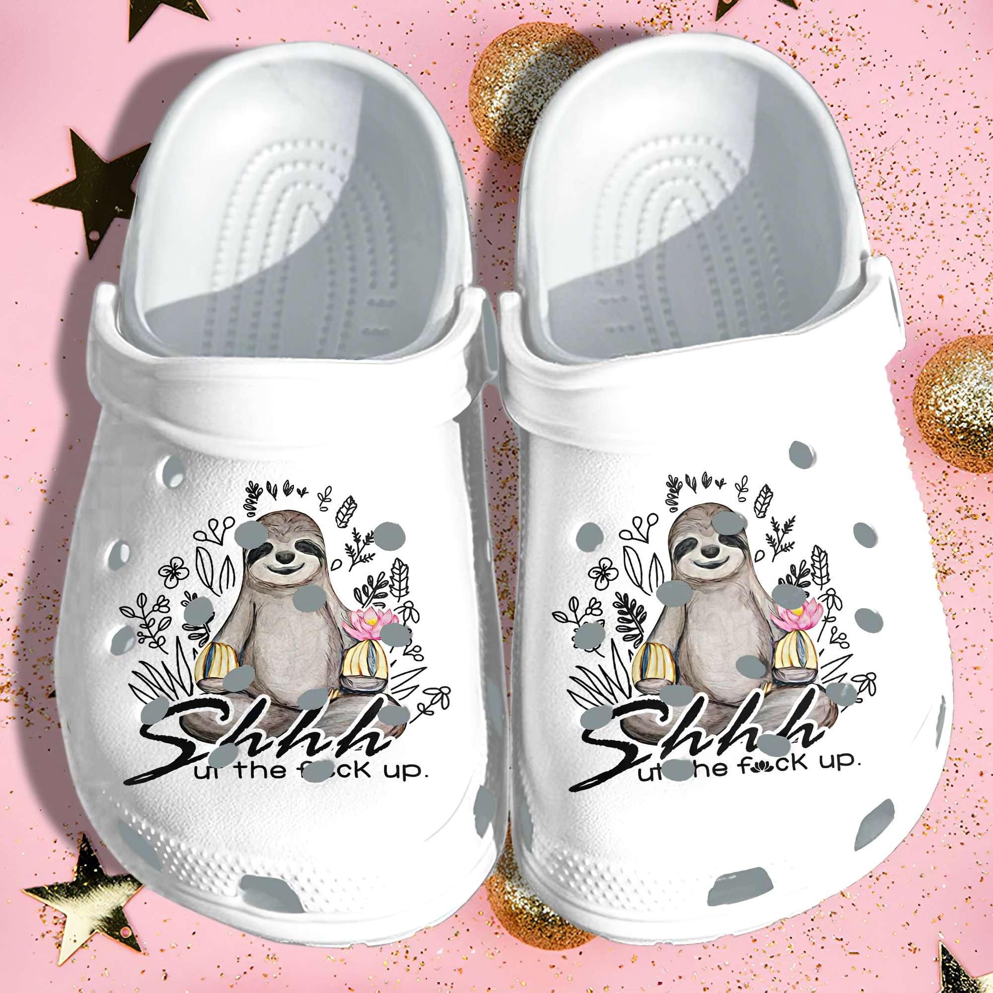 Sloth Peace Yoga Funny Crocs Clog Shoes