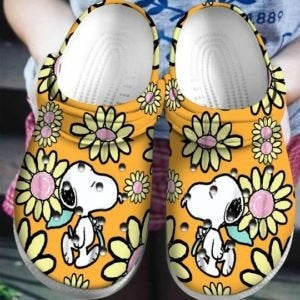 Snoopy Flower Crocs Clog Shoes