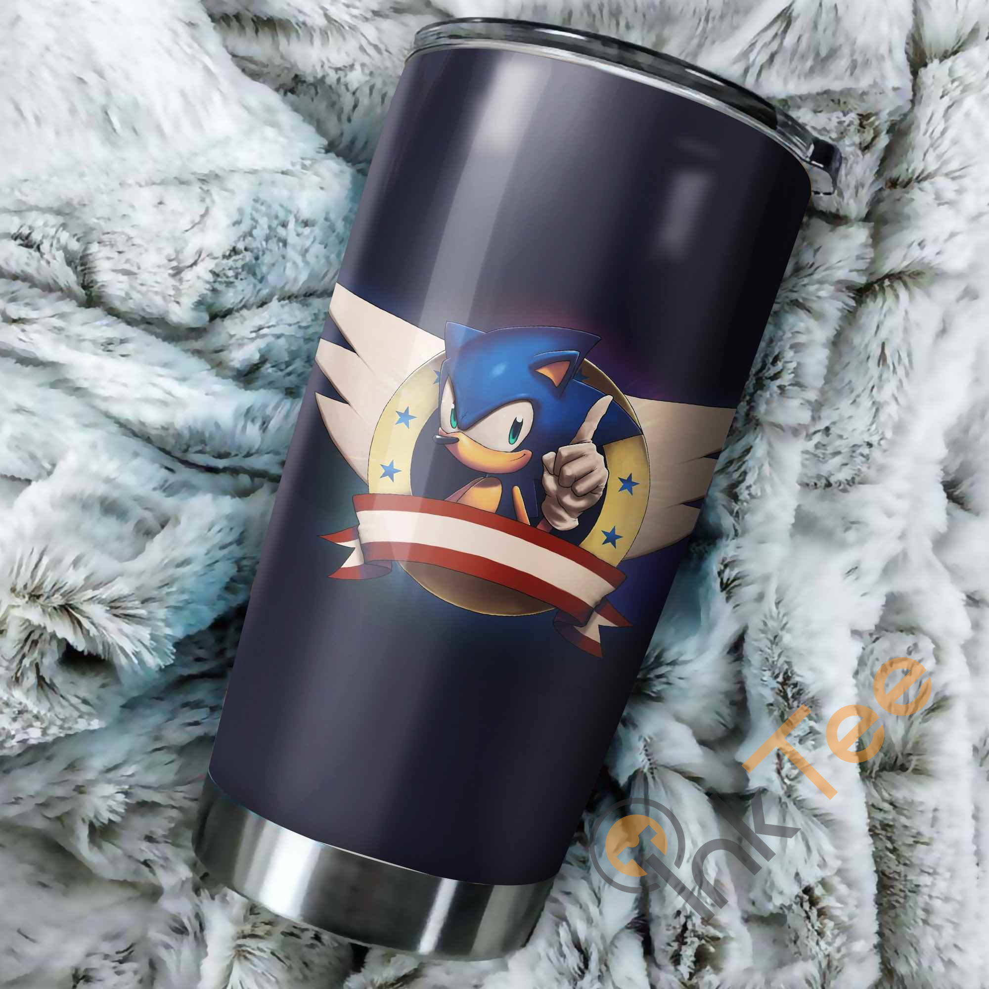Sonic The Hedgehog Logo Perfect Gift Stainless Steel Tumbler
