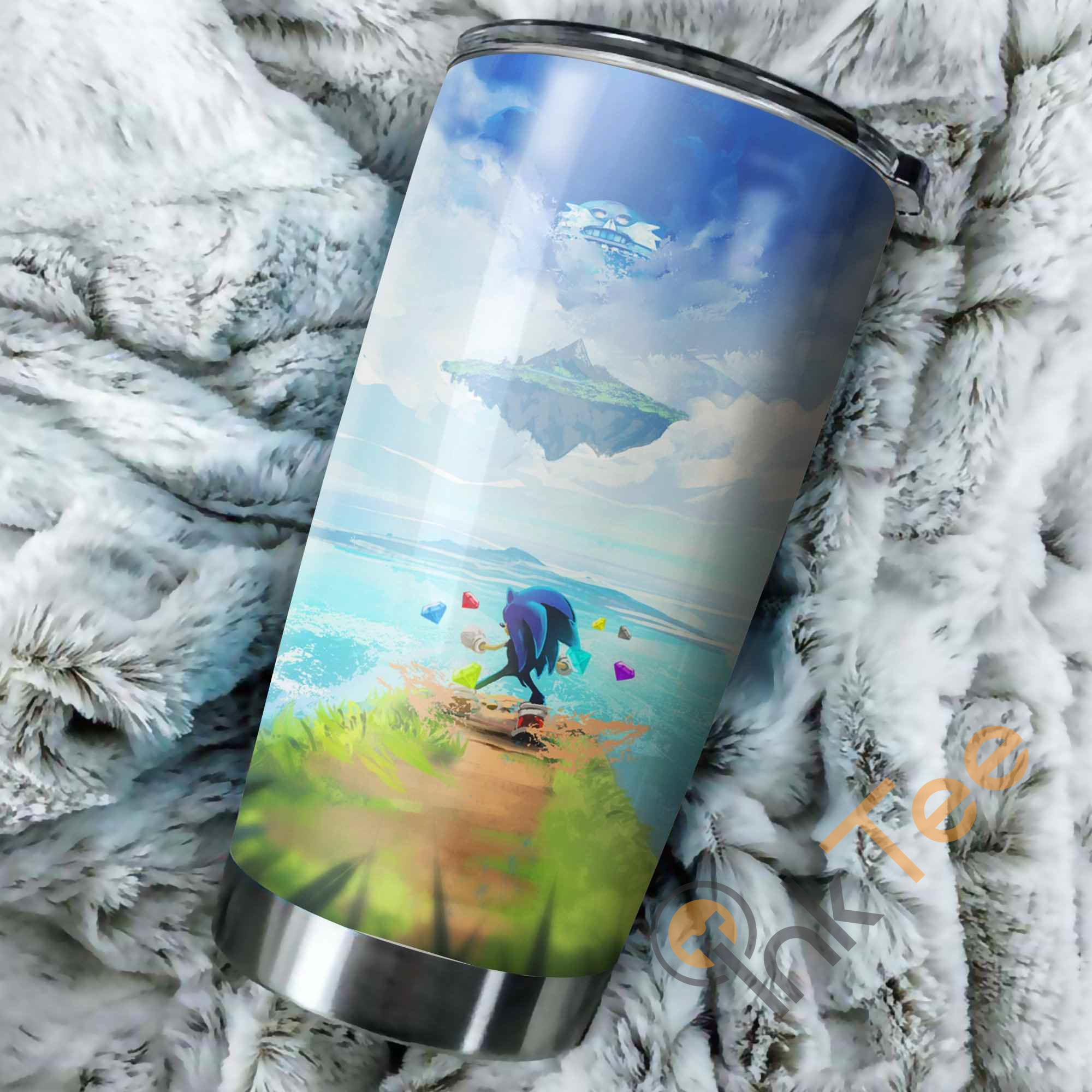 Sonic The Hedgehog Poster Perfect Gift Stainless Steel Tumbler