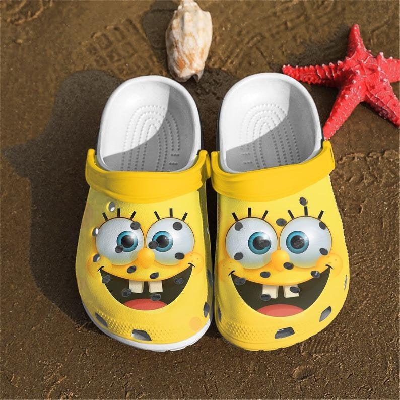 Spongebob 3d Comfortable For Mens And Womens Classic Water Crocs Clog Shoes