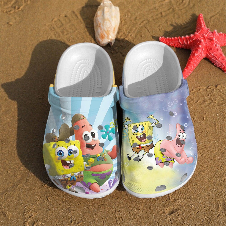 Spongebob Crocs Clog Shoes