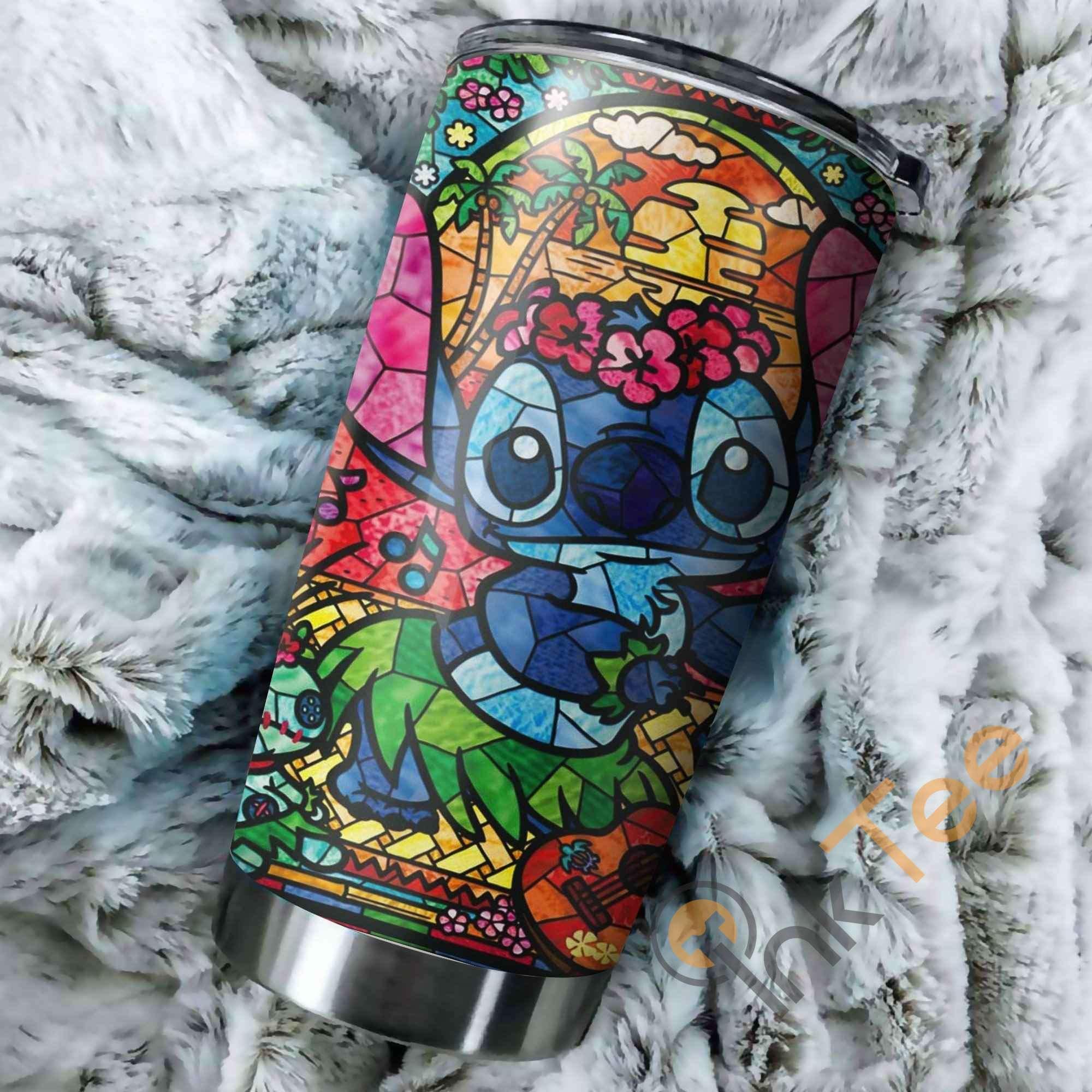 Stitch Aloha Art Perfect Gift Stainless Steel Tumbler