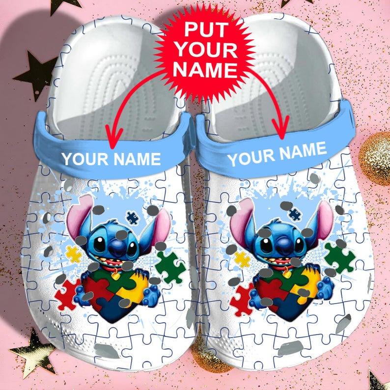 Stitch Autism Crocs Clog Shoes