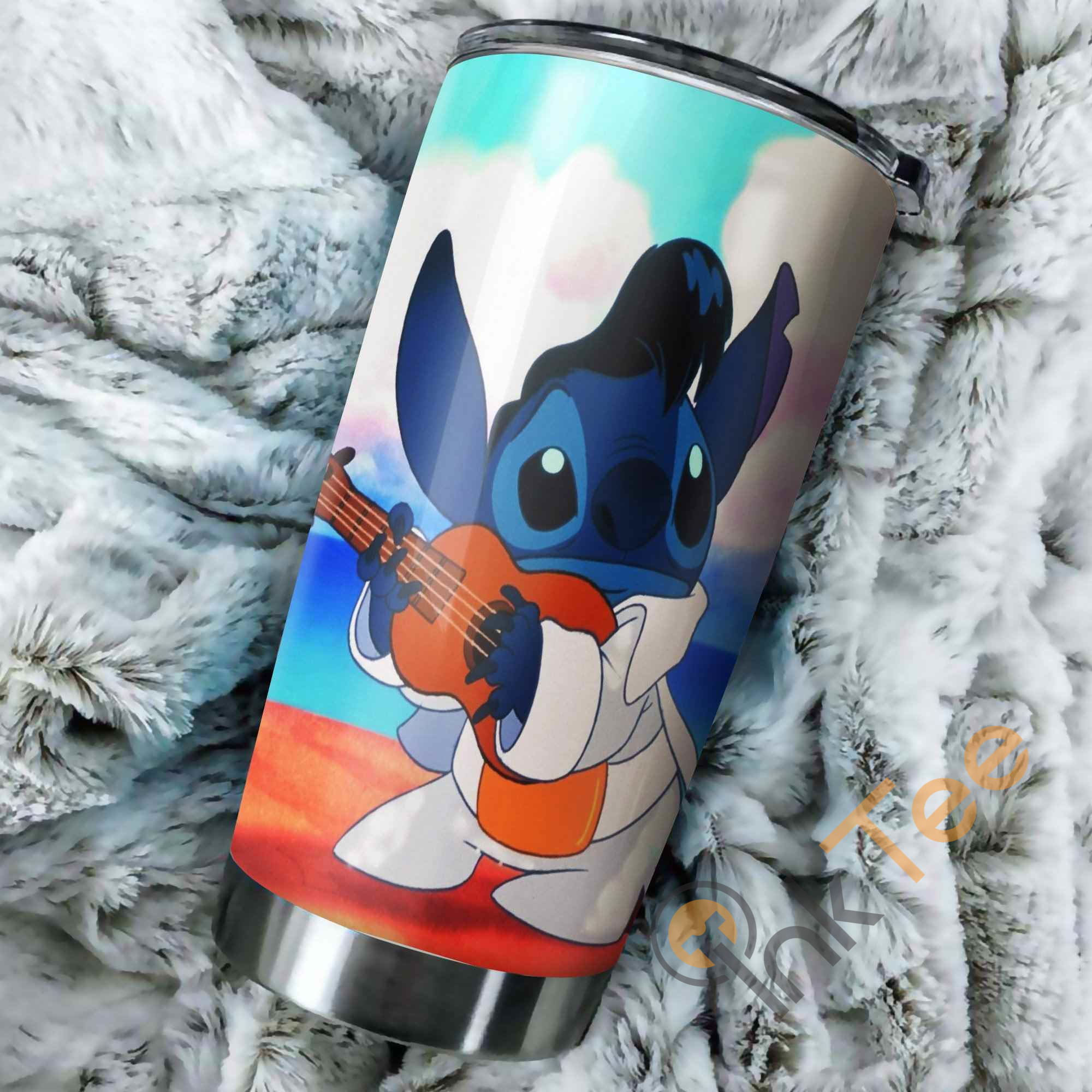 Stitch Elvis Presley Perfect Gift Stainless Steel Tumbler