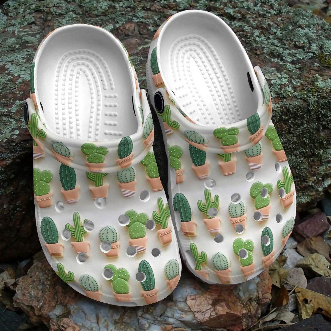 Succulent Pattern Crocs Clog Shoes