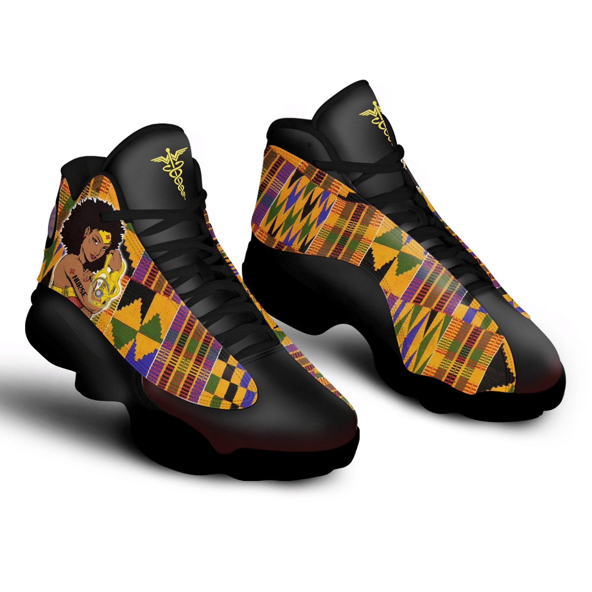 Super Nurse Melanated African Pattern Air Jordan Shoes