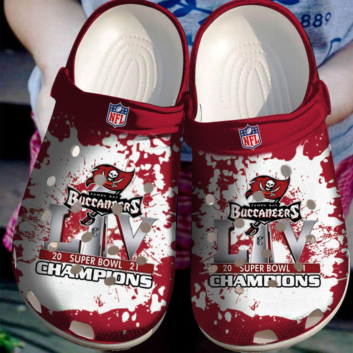 Tampa Bay Buccaneers Champions Nfl Crocs Clog Shoes