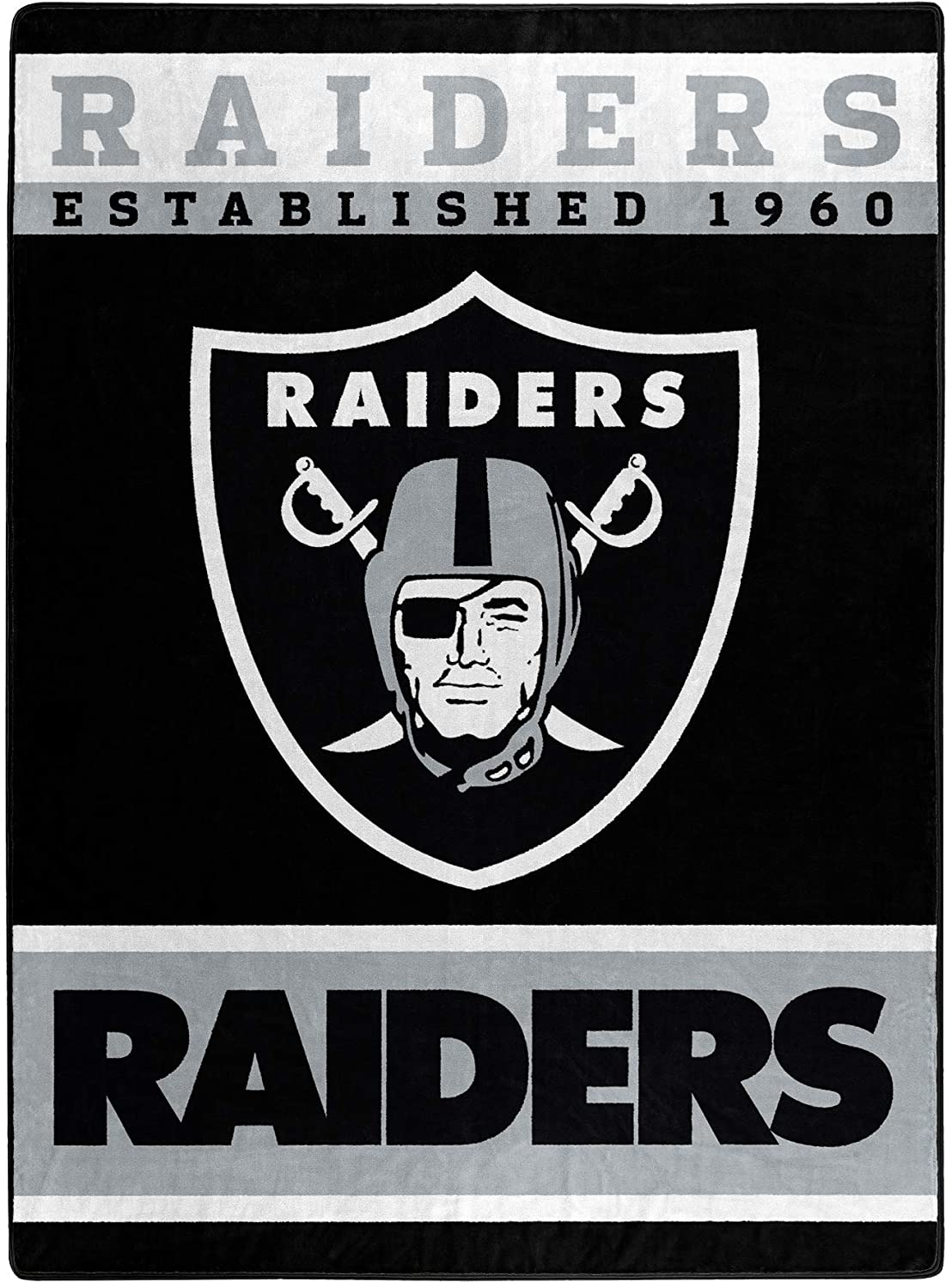 The Officially Licensed Nfl Throw Las Vegas Raiders Fleece Blanket