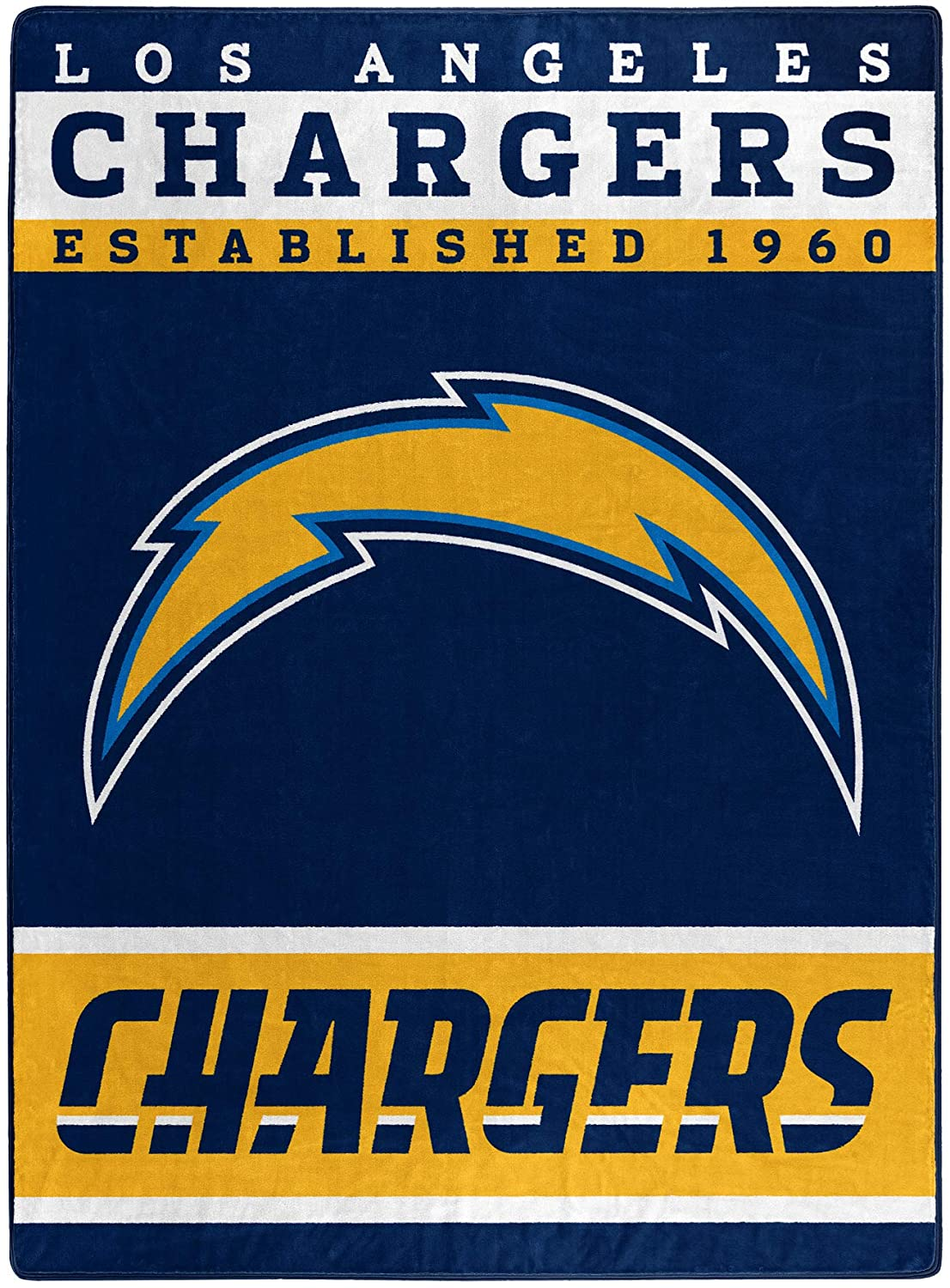 The Officially Licensed Nfl Throw Los Angeles Chargers Fleece Blanket