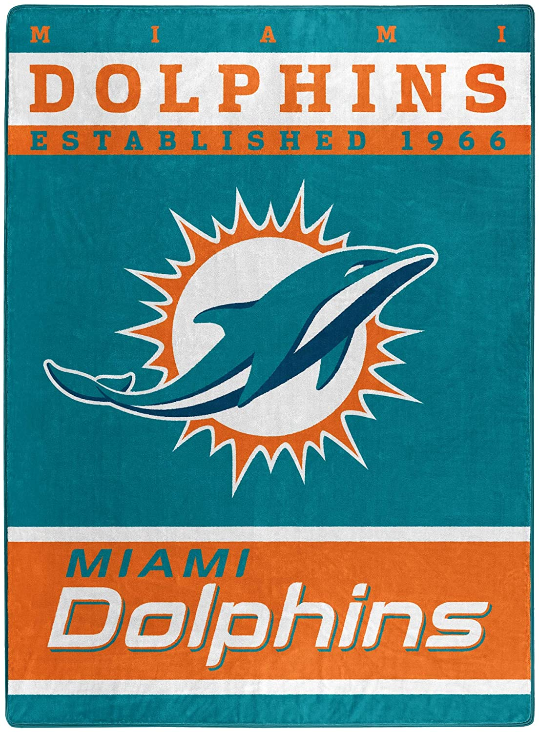 The Officially Licensed Nfl Throw Miami Dolphins Fleece Blanket