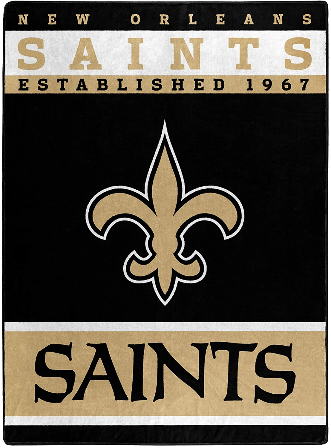 The Officially Licensed Nfl Throw New Orleans Saints Fleece Blanket