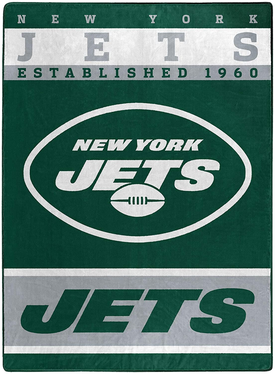 The Officially Licensed Nfl Throw New York Jets Fleece Blanket