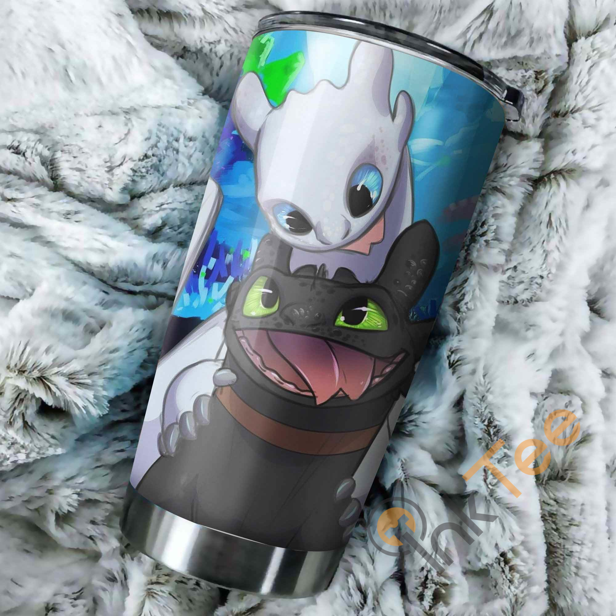 Toothless And Light Fury How To Train Your Dragon Funny Perfect Gift Stainless Steel Tumbler