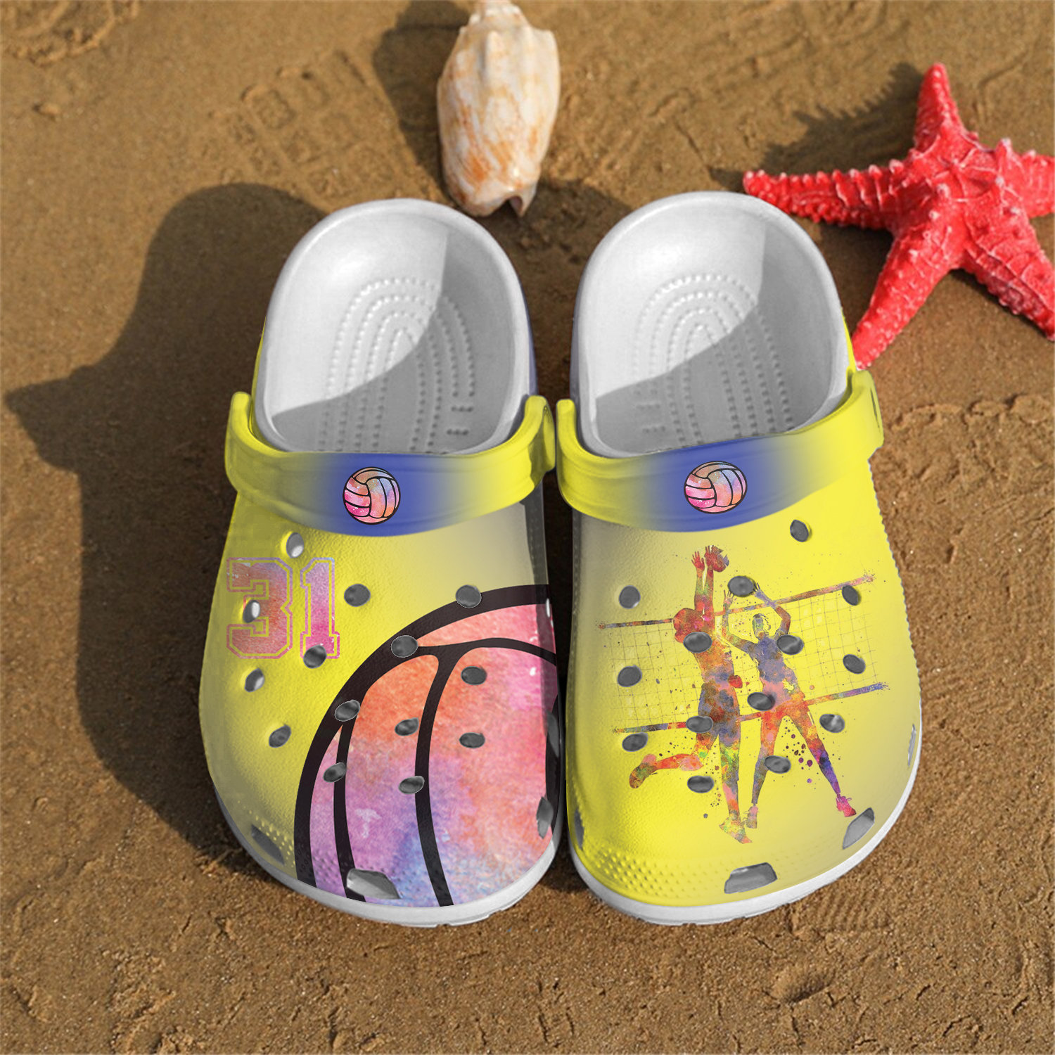 Volleyball Custom Personalized Crocs Clog Shoes