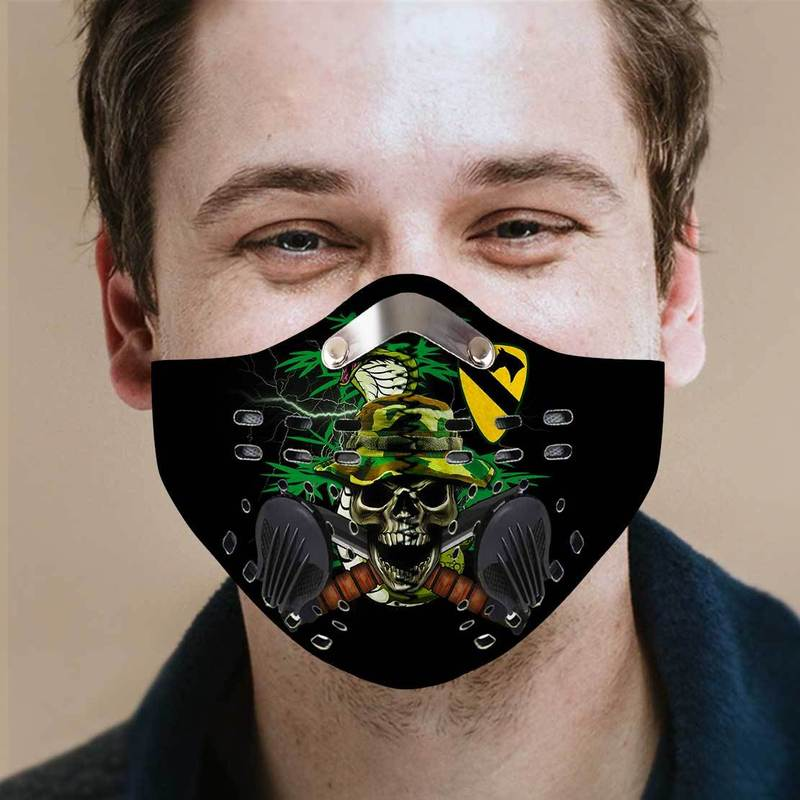 1st Cavalry Regiment Filter Activated Carbon Pm 2.5 Fm Face Mask