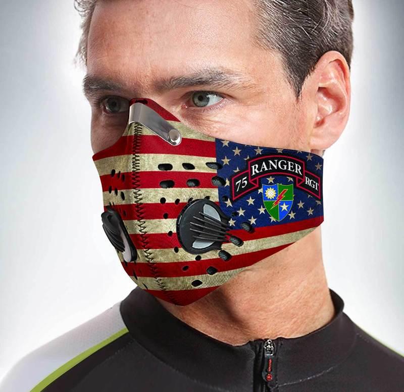 75th Ranger Regiment Filter Activated Carbon Pm 2.5 Fm Face Mask
