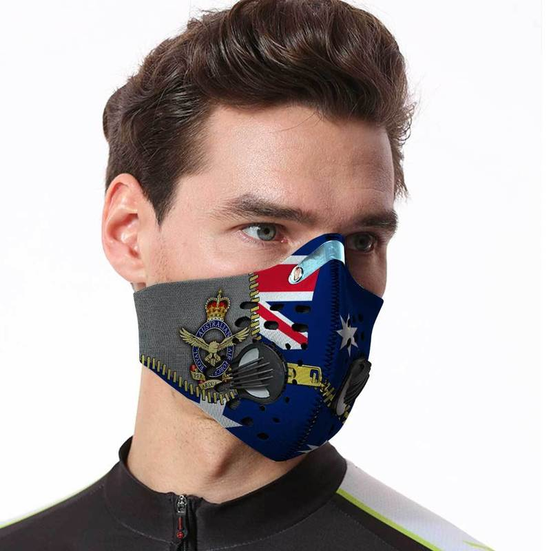 Air Force Veteran Filter Activated Carbon Pm 2.5 Fm Face Mask