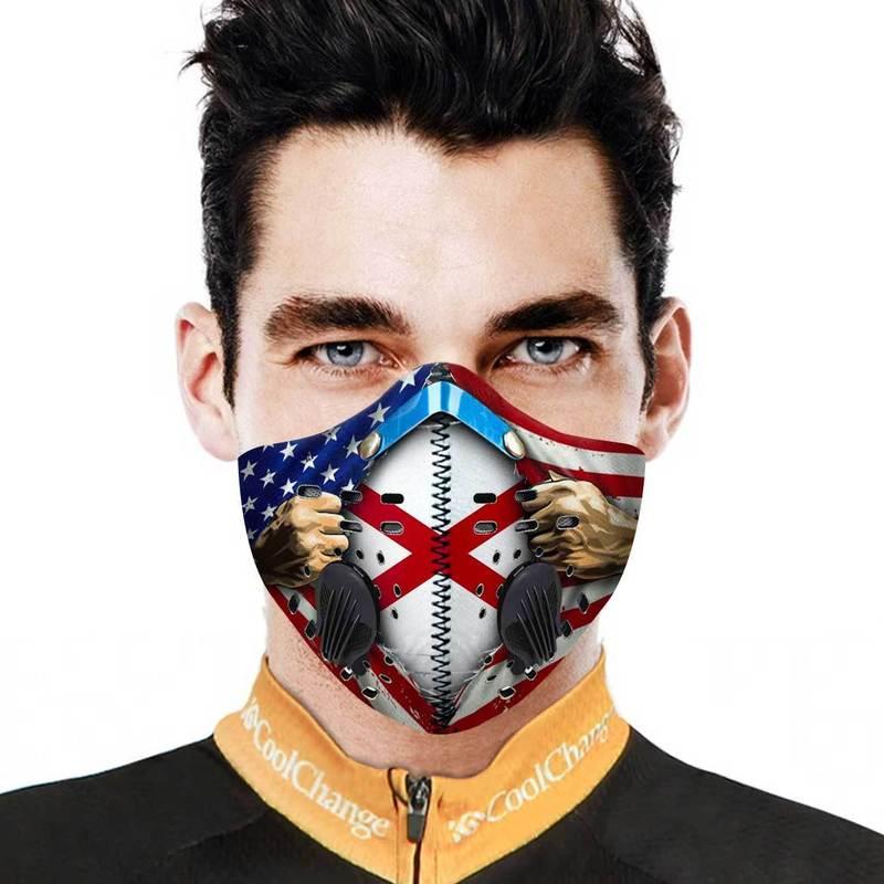 Alabama Filter Activated Carbon Pm 2.5 Fm Face Mask