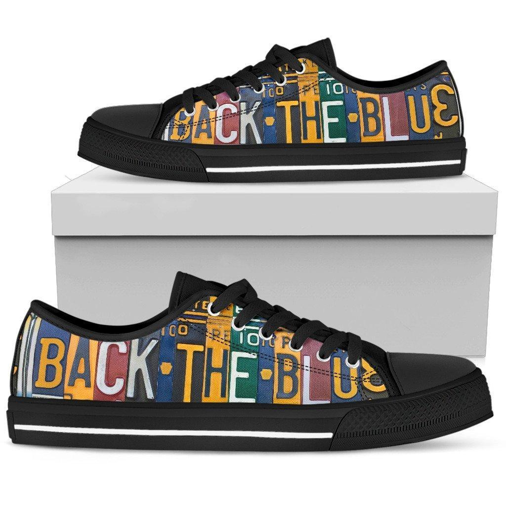 Back The Blue Police Low Top Shoes