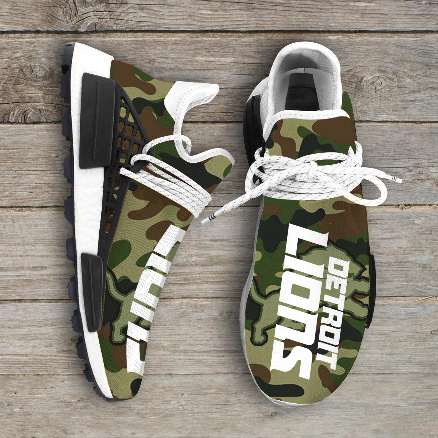 Camo Camouflage Detroit Lions Nfl NMD Human Shoes