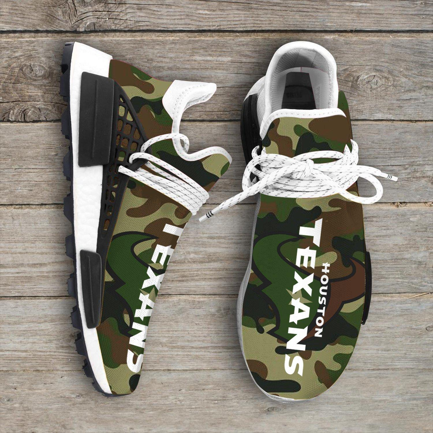 Camo Camouflage Houston Texans Nfl NMD Human Shoes