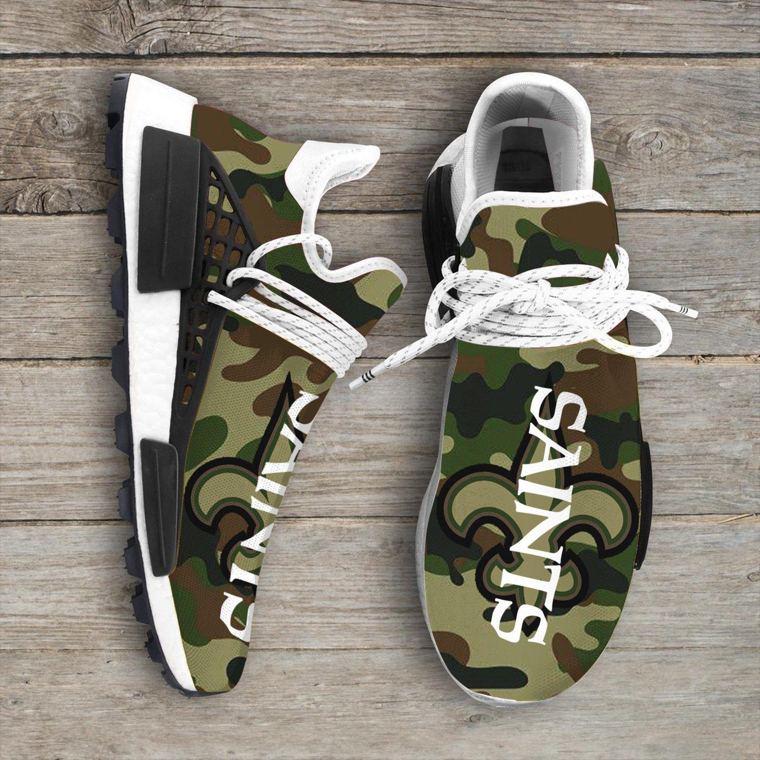 Camo Camouflage New Orleans Saints Nfl NMD Human Shoes