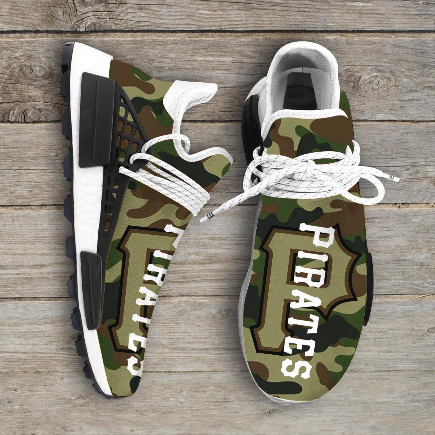 Camo Camouflage Pittsburgh Pirates Mlb Sport Teams NMD Human Shoes