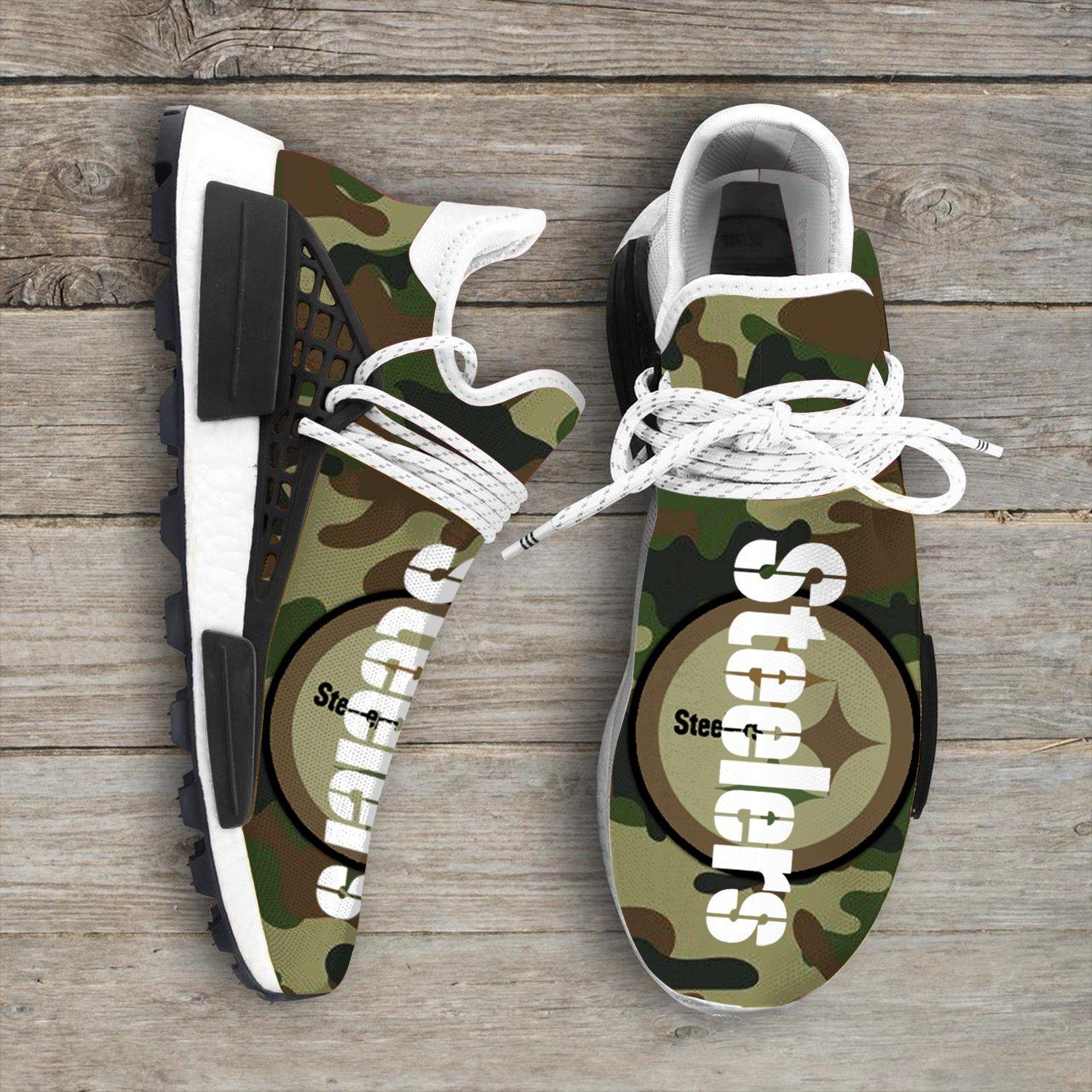 Camo Camouflage Pittsburgh Steelers Nfl NMD Human Shoes