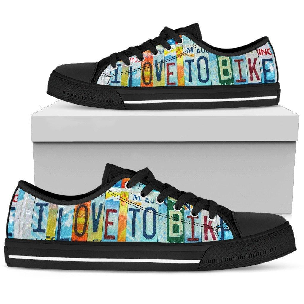 I Love To Bike Low Top Shoes